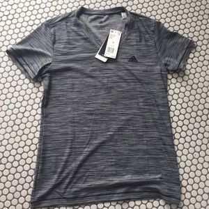 Adidas Small Dry Fit Tech Tee Grey